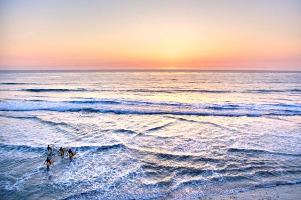 Encinitas Surfer by Jen Consalvo