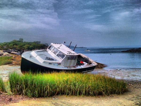 maine boat by Jen Consalvo